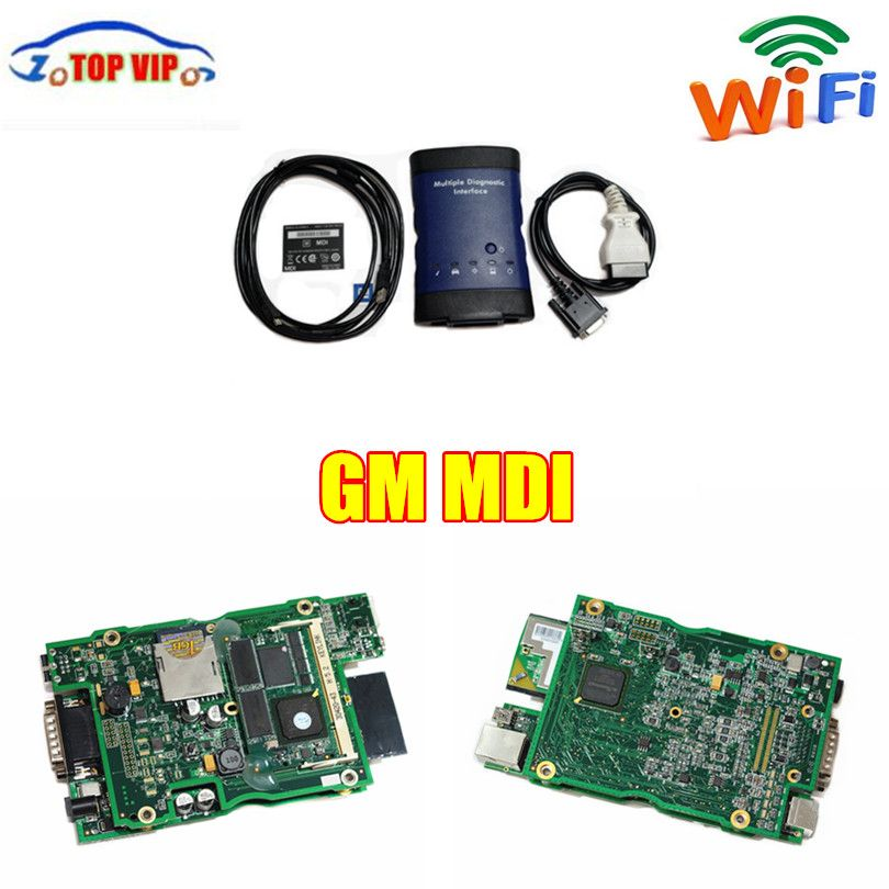 DHL Free Postage Best Quality For GM MDI With WIFI Software For GM NDI For Opel mdi Car Diagnostic Tool Auto Car Scanner