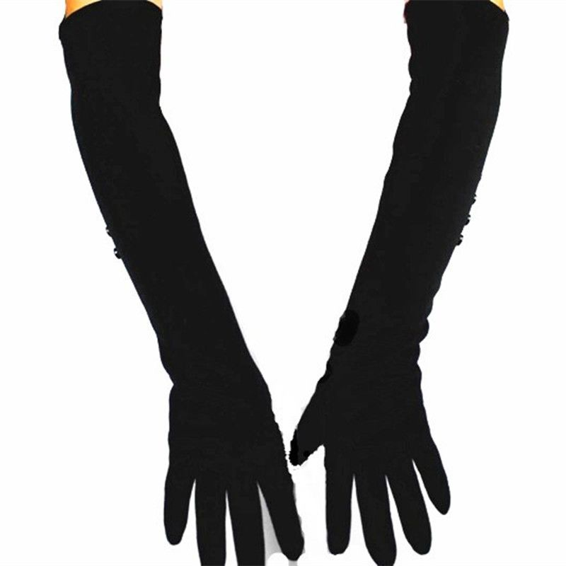 48 cm long cashmere is not inverted female cotton knitted gloves warm autumn and winter jacket armband special direct sales