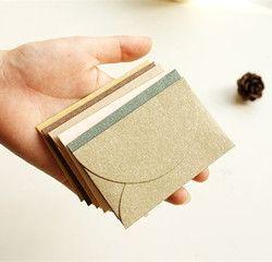 Nouveau 10 pcs/lot Vintage Romantique Mini Papier Enveloppe BRICOLAGE Cadeau Enveloppe