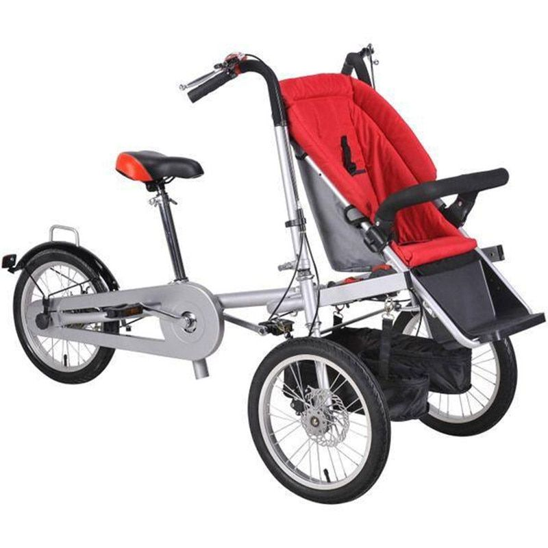 2017 Brand New Baby and Mother Bike Stroller 3 wheel Baby Boy Girls Stroller Pushchair Kids Folding Strollers 3 in 1 Prams DHL