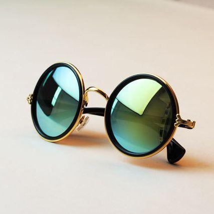 Livraison gratuite lunettes Nouvelle Mode lunettes Femmes hommes Mode rétro rondeur couleurs Filles lunettes de Soleil d'été couleurs lunettes
