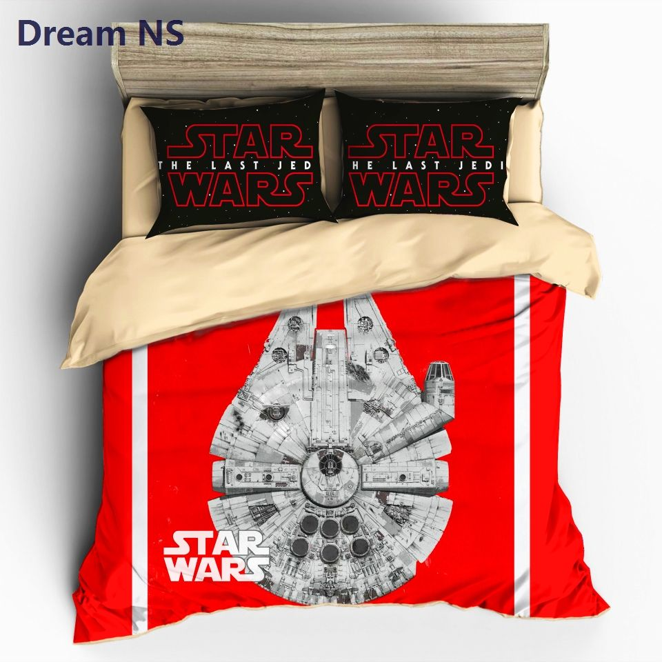 Dream NS Star Wars Bedding Set Millennium Falcon Bedclothes Outer Space Ship Duvet Cover Sets AU Europe Size Bedlinens King
