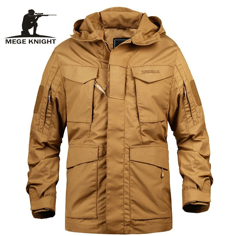 Mege Brand Men Tactical Clothing US <font><b>Army</b></font> M65 Military Field Jacket Trench Coats Hoodie Casaco Masculino Windbreaker Men Autumn