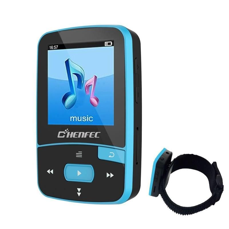MP3 Player Bluetooth MP3 Clip ChenFec 8GB Digital Music Player Playback (Support up to 64GB) with Armband Sport MP3 Running
