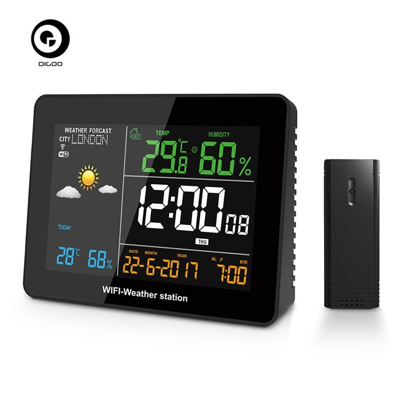 DIGOO DG-TH8788 APP Remote Setting WIFI Weather Station Automatic Connect Smart Home Multifunction Thermometer Hygrometer