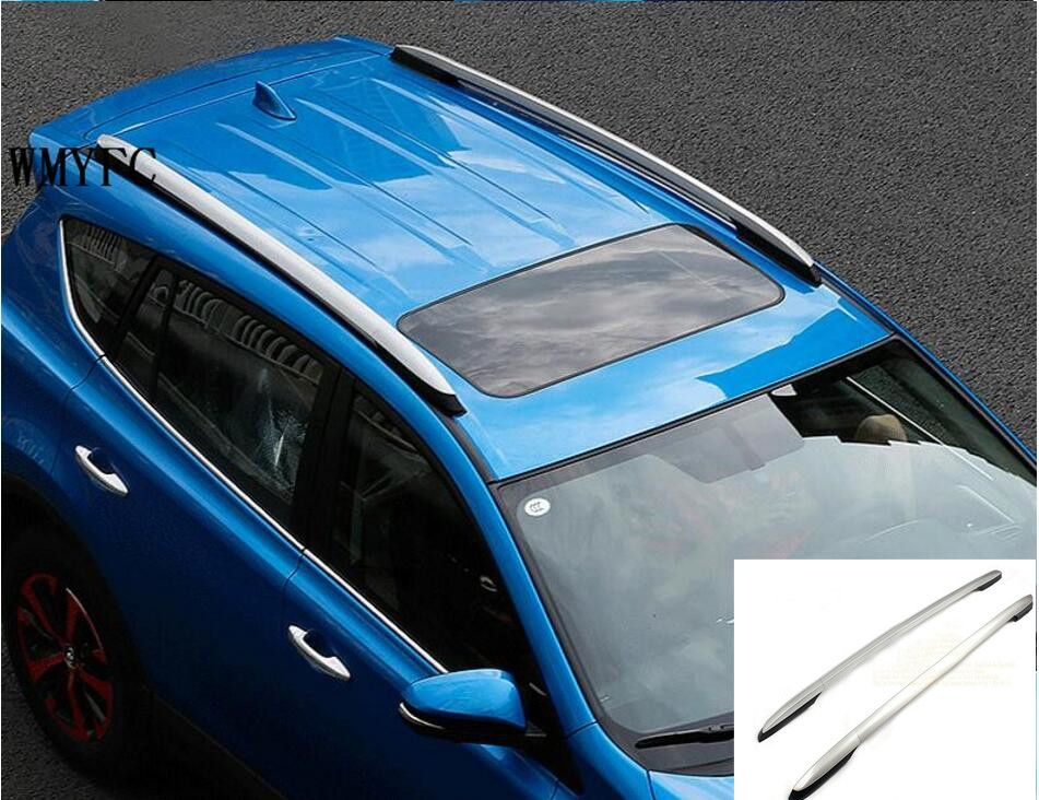 Car Styling For Toyota RAV4 2013 2016 2017 2018 Aluminium Alloy Carrier Roof Rack Side Rails Bars Outdoor Travel Luggage 2Pcs