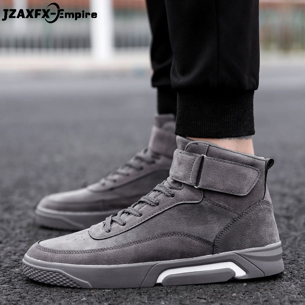 2018 New Lace-Up Canvas Shoes Men Casual High Top Shoes zapatos hombre Walking Ankle Boots Male Fashion Sneaker