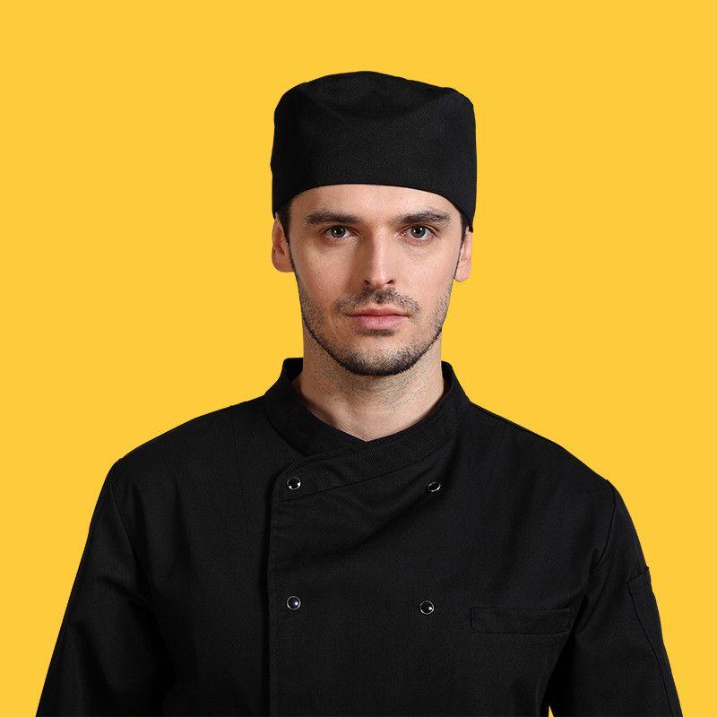 Chef sombrero camareros Calidad Trabajo sombrero para hombres y mujeres en la cocina diversión cocinero toque casquillos planos clásicos envío libre