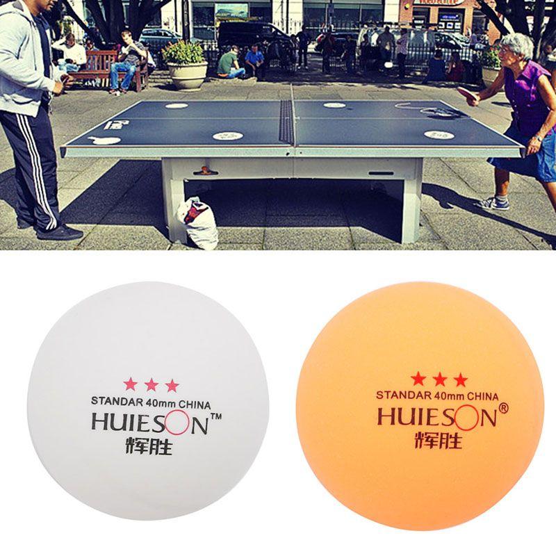 OOTDTY 50 Unids 3-estrellas Estándar 40mm Olímpicos Tenis de Mesa Pelotas de Ping Pong Juegos de Interior Caliente