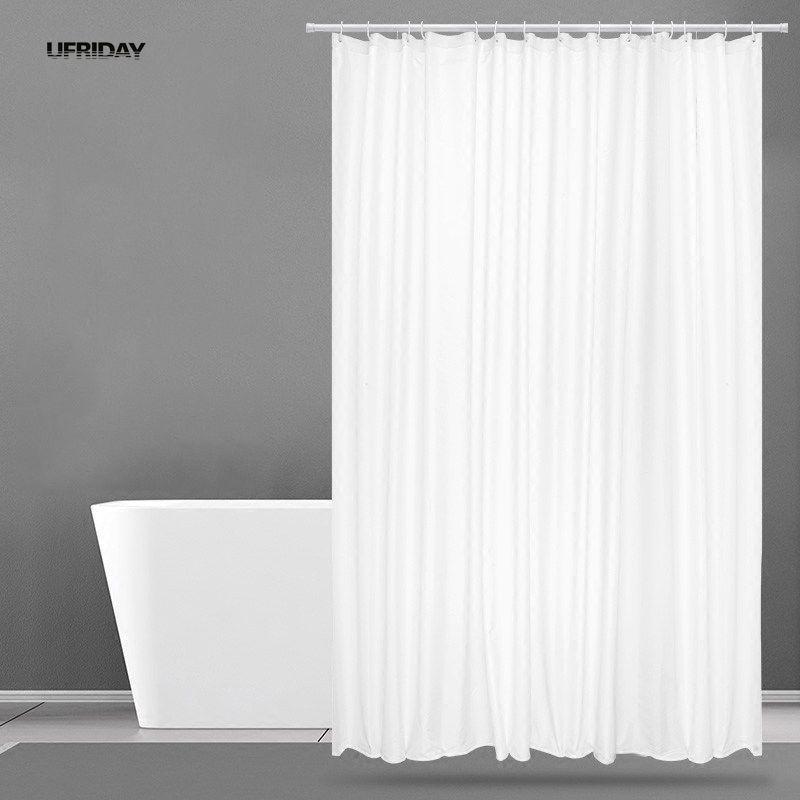 UFRIDAY nouveau rideau de douche blanc tissu Polyester hôtel rideau pour la salle de bain tissu étanche moisissure épaissir rideaux de douche