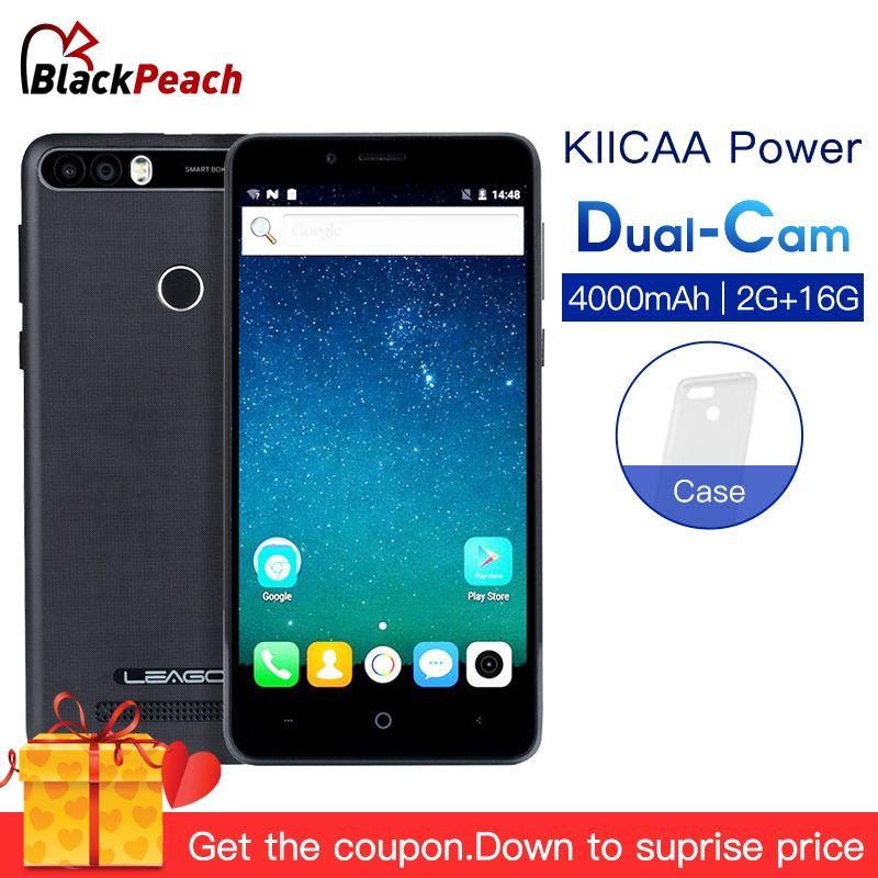 LEAGOO KIICAA POWER Android 7.0 Dual Camera 4000mAh Mobile Phone 5.0 Inch MT6580A Quad Core 2GB RAM 16GB Fingerprint Smartphone