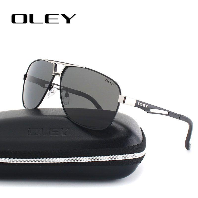 OLEY classique lunettes de soleil polarisées pour hommes aluminium magnésium cadre haute définition Polaroid lentilles conduite anti-éblouissement lunettes