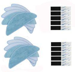 Новый 10 шт вставка из ткани для швабры и 10 шт magic паста для Chuwi iLife V50 V55 V3 V5s pro V3s V5 V5s Конга EXCELLENCE v710 Eufy RoboVac 11 11C