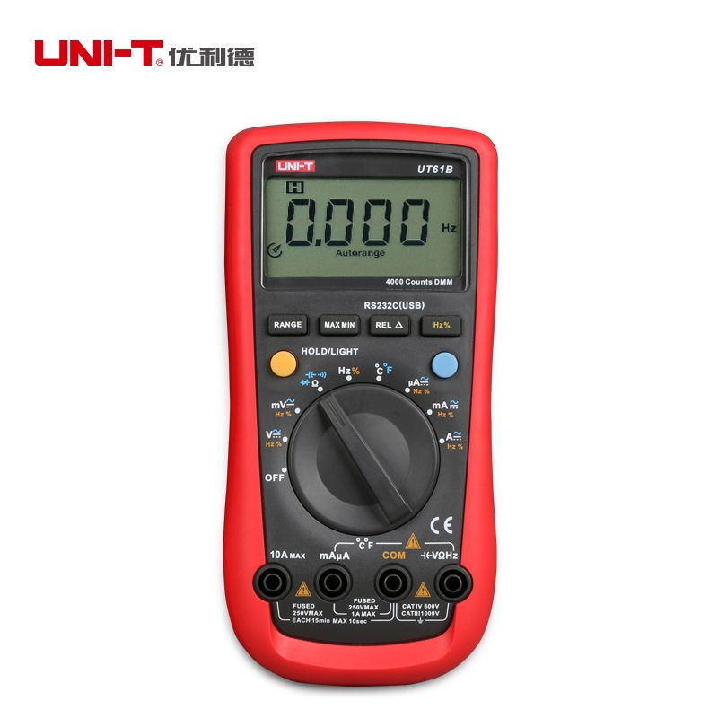 UNI T UT61b Vrai RMS Multimètre Numérique AC DC Testeur USB Interface Multitester analogique graphique à barres RS-232/USB interface ohmmètre