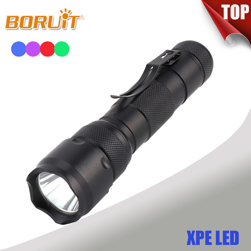 BORUIT 502B 1000LM XPE LED Flashlight Red For Fishing Bule Green For Fishing 1 Mode 18650 Purple UV For Marker Checker Detection