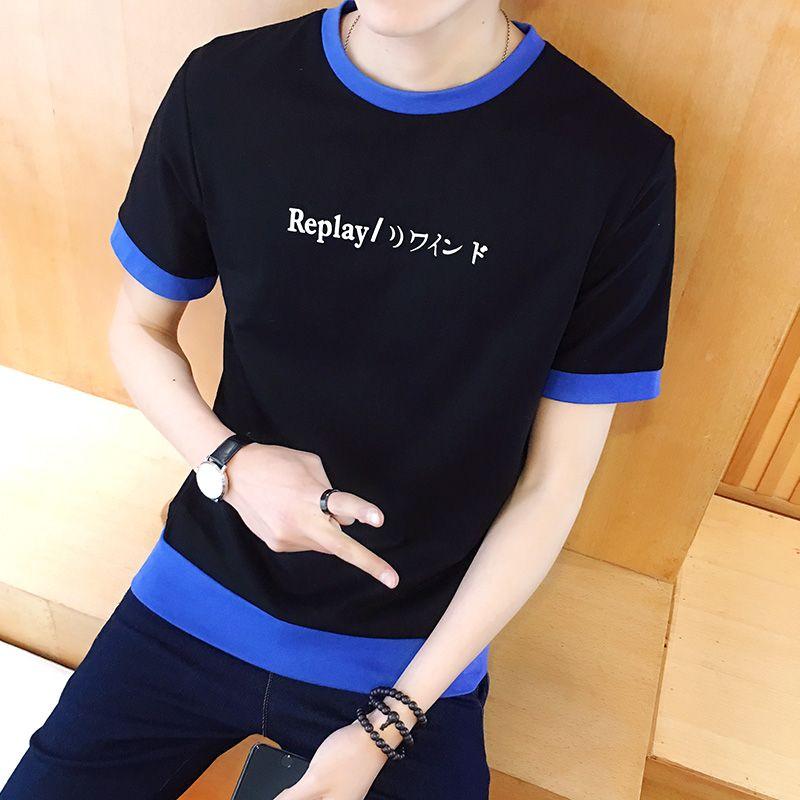OBL explore the space Black Casual shirt Boys T shirts Men astronaut 2018 Cotton Tops Tees Loose Short Funny T-shirts Man's