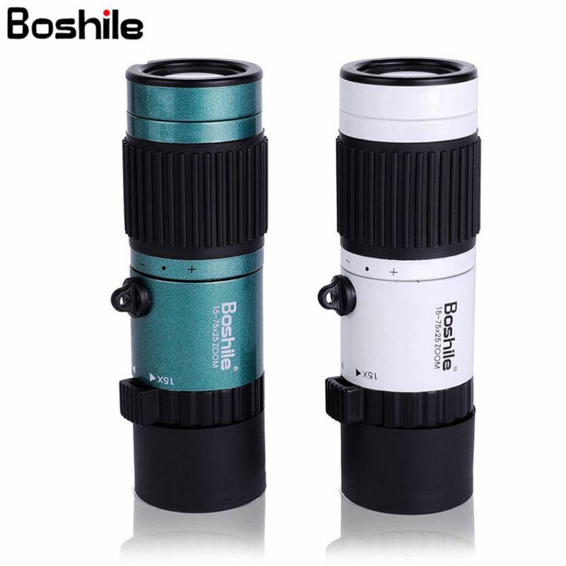 Boshile Monocular 15-75x25 HD High Power Telescope For Bird Watching Camping Monocular binoculars High quality Clear Vision