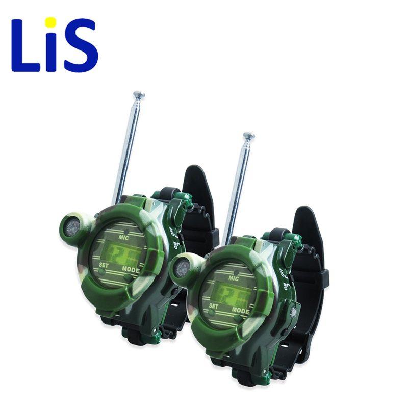 Lis 2 PCS Hot Selling Way Radio Walkie Talkie Kids Child Spy Wrist Watch Gadget Toy drop shipping