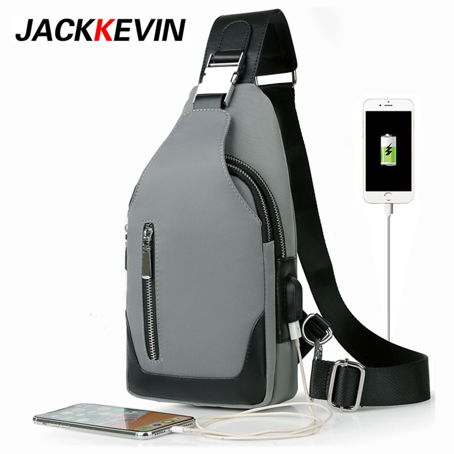 Men 's chest bag leisure Messenger bag multi - functional shoulder bag Oxford cloth Korea Style Messenger Shoulder Bag