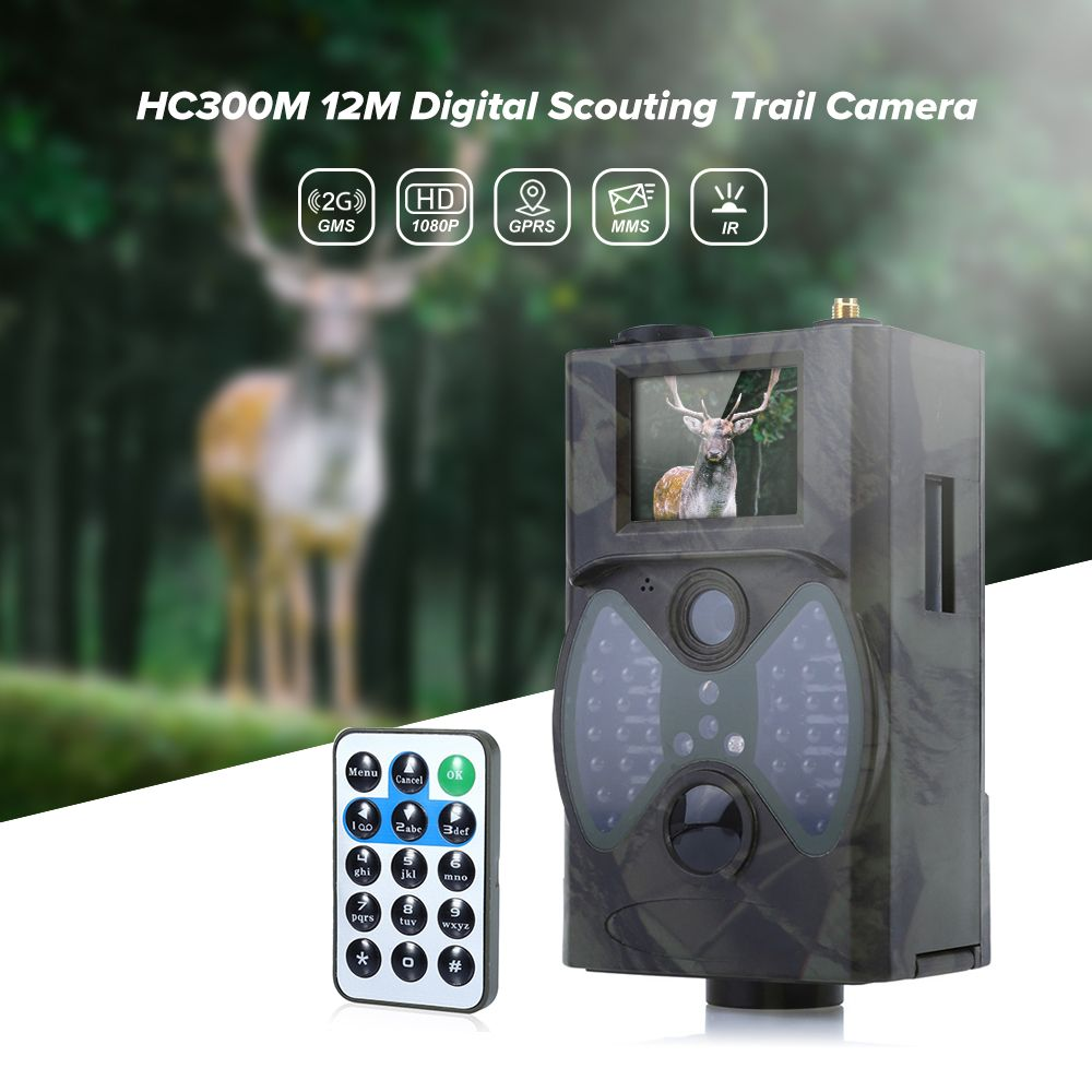 Outlife HC300M 940NM Infrared Night Vision Hunting Camera 12M Digital Trail Camera Trap Support Remote Control 2G MMS GPRS GSM