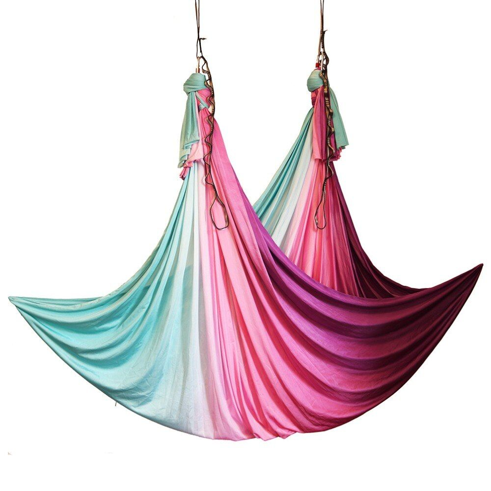 2018 New Arrival Aerial Anti-gravity Yoga Hammock Swing Flying Yoga Bed Bodybuilding Gym Fitness Equipment Inversion Trapeze