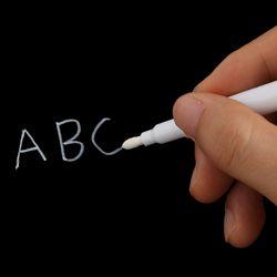 1/3 Pcs Blanc Liquide Craie Stylo/Marqueur pour Fenêtres En Verre Tableau Blackboard Papeterie Fournitures de Bureau