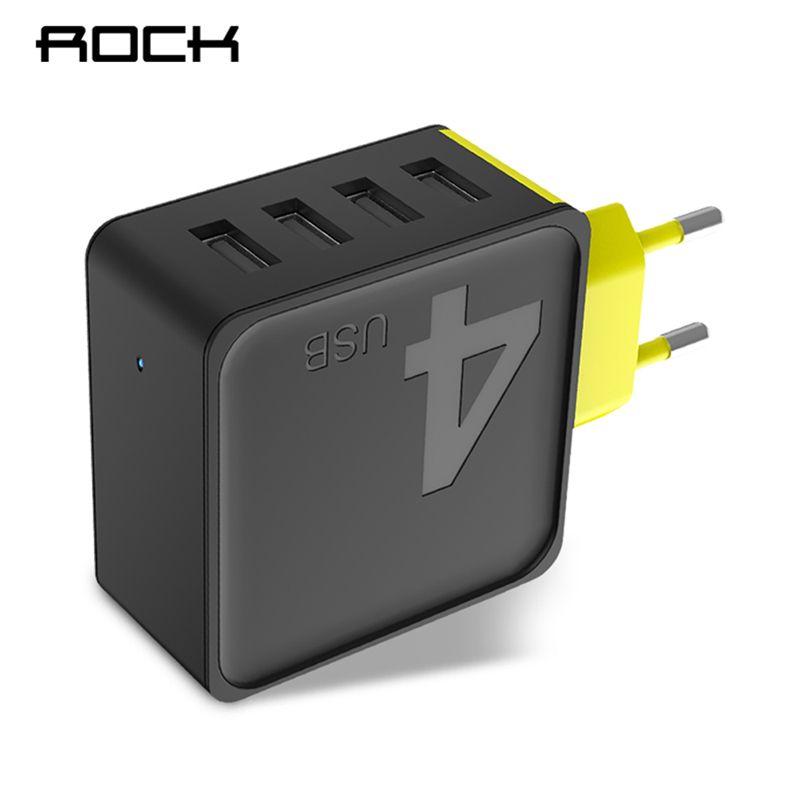 Рок сахара 4 стены USB телефон Зарядное устройство 5 В 4A быстро Travel Adapter Зарядное устройство для iPhone Samsung Xiaomi быстро Зарядное устройство для тел...