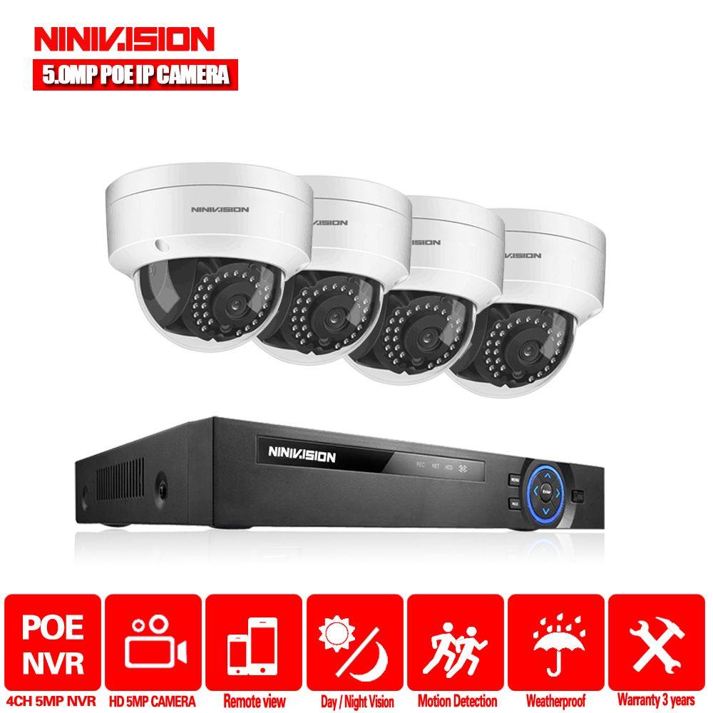 H.265 4CH 5MP 8CH 4.0MP POE NVR Kit CCTV Sicherheit System 5MP IR Dome Outdoor POE IP Kamera P2P Video überwachung Set 2TB HDD