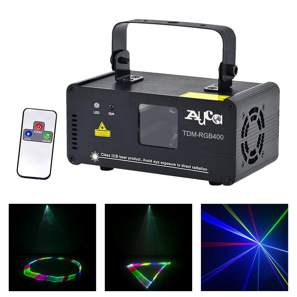 Mini 3D effet 400mW RGB couleur Laser Scanner lumières DJ fête maison mariage projecteur scène éclairage PRO à distance 8 CH DMX lampe