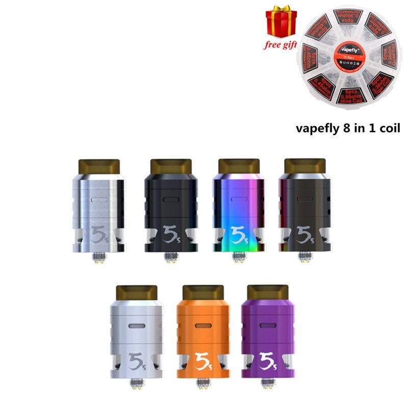 Free gift!!! Original IJOY RDTA 5S Tank Atomizer 2.6ml Top Fill Aiflow for Captain PD270 Mod electronic cigarette
