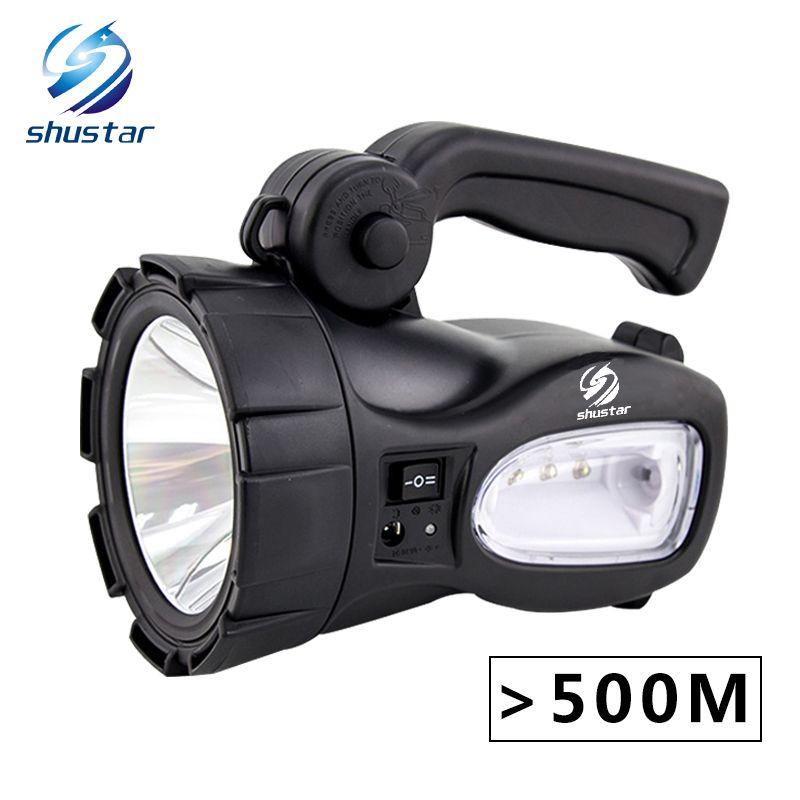 Wiederaufladbare Helle LED Taschenlampe 20 watt High powered scheinwerfer Eingebaute 2300 mah lithium-batterie Zwei arbeits modi