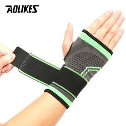 AOLIKES 1PCS High Elastic Bandage Fitness Yoga Hand Palm Brace Wrist Support Crossfit Powerlifting Gym Palm Pad Protector
