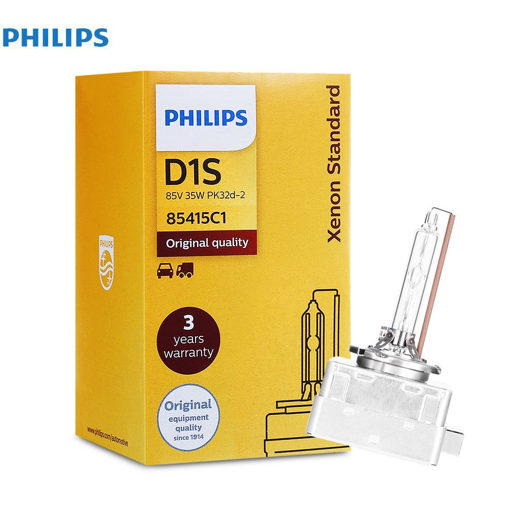 Philips 4200K D1S 35W Xenon Standard Car Headlights Auto Front Bulb Automobiles foglight Headlamp Bulbs Car Head Lights