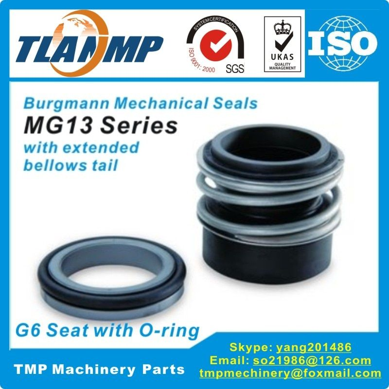 MG13/28-Z (MG13-28/G6)  Burgmann Mechanical Seals with G6 O-ring Stationary seat for Shaft Size 28mm Pumps (SiC/SiC/VITON)