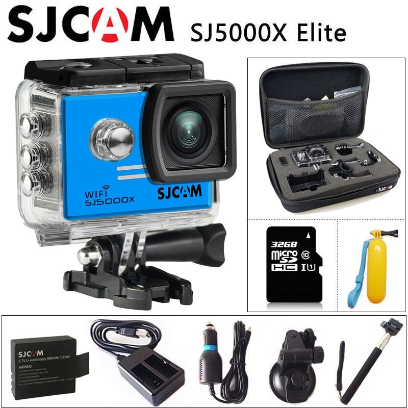 Original SJCAM SJ5000X Elite Gyro Sport Action Camera WiFi 4K 24fps 2K 30fps Diving 30M Waterproof NTK96660 SJ CAM 5000 CAR DV