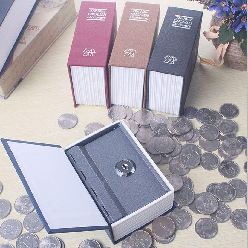 Dictionnaire Mini coffre-fort livre argent caché Secret sécurité coffre-fort serrure argent comptant monnaie stockage bijoux clé casier pour enfant cadeau