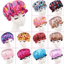 Belle Épais Femmes Étanche Bonnet De Douche Impression Élastique Bonnets De Douche pour Dames Fille Chapeau Cheveux Bain Spa Salon Bonnets De Douche