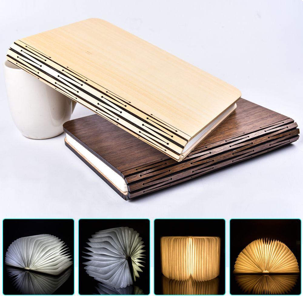 RGB rgbww www USB Перезаряжаемые складной свет книги Творческий дом Декор лампы Два Размеры 3 цвета крышка причудливый деревянный магнит крышка