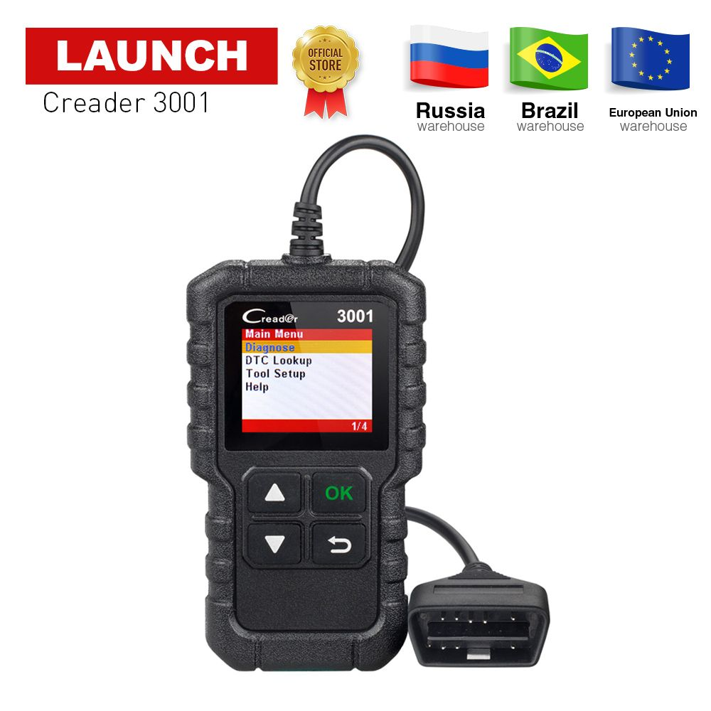 LAUNCH X431 CR3001 OBD2 Car Code reader Scanner support full obdii obd 2 diagnostic function with Multi-language pk ELM327 NL100