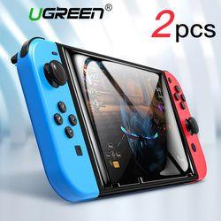Ugreen Pelindung Layar untuk Nintend Switch 9 H Tempered Glass untuk Nintendo Switch 3DS Ultra HD Film Pelindung Nintendos Switch