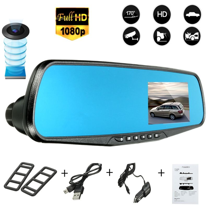 2.8 Inch 1080P Car Parking Rearview Mirror Monitor Car DVR Dash Camera Video Recorder Night Vision