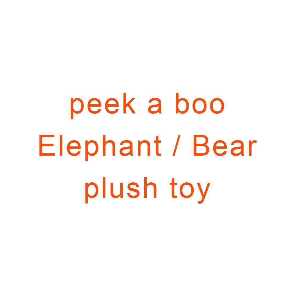 Jouer de la musique éléphant/ours en peluche