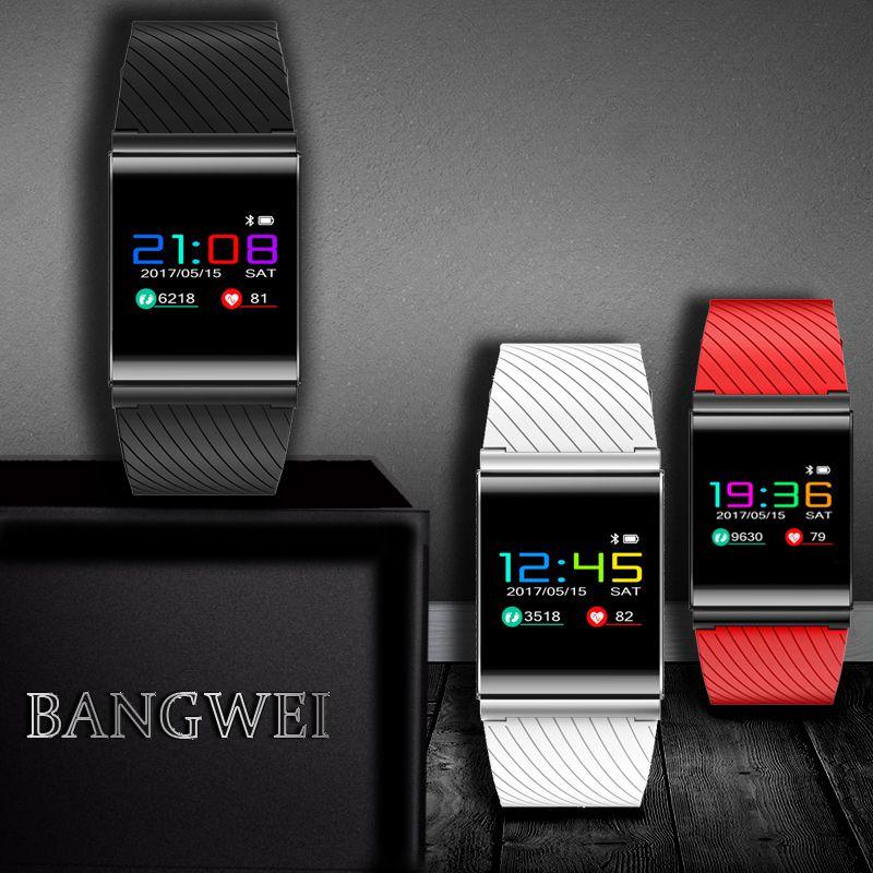 BANGWEI 2018 OLED Farbe Bildschirm sport Fitness Tracker smart Armband IP67 Wasserdicht Beständig Herz Rate Monitor smart armband