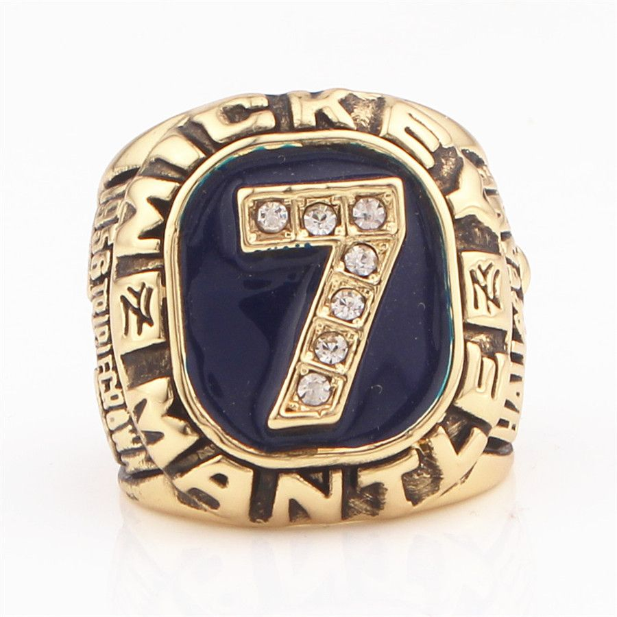 Manufacturer New Design 1956 Mickey Mantle Baseball Championship Ring Replica High-End Quality Sports Circle Collection Ring