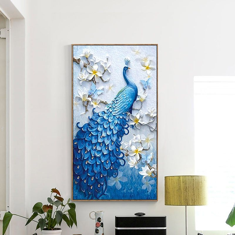 Meian,Special Shaped,DIY Diamond Painting,Diamond Embroidery,Animal,Peacock,Full,Rhinestone,5D,<font><b>Cross</b></font> Stitch,Diamond Mosaic,Decor