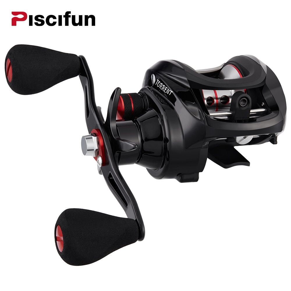 Piscifun Torrent Fishing Reel 8.1kg Carbon Drag 7.1:1 Gear Ratio Magnetic Brake Saltwater Freshwater Baitcasting Reel