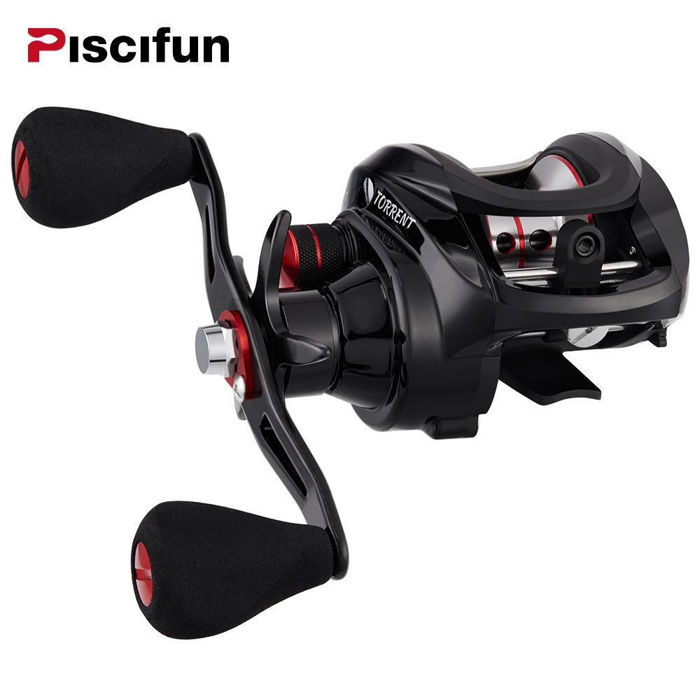 Piscifun Torrent Fishing Reel 8.1kg <font><b>Carbon</b></font> Drag 7.1:1 Gear Ratio Magnetic Brake Saltwater Freshwater Baitcasting Reel