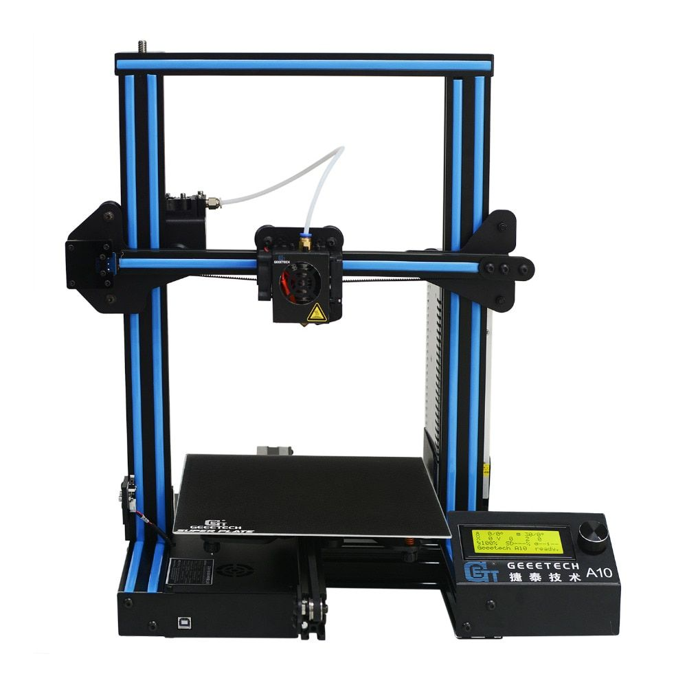 Geeetech A10 Open Source Fast Assembly 3D Printer 220*220*260 <font><b>High</b></font> PFrinting Accur Good Adhesion Platform LCD2004 Display