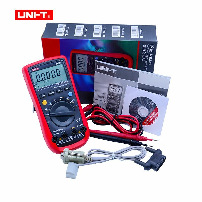 UNI-T UT61E Digital Multimeter auto range true RMS Peak value RS232 REL AC/DC amperemeter uni t UT 61E multimeter