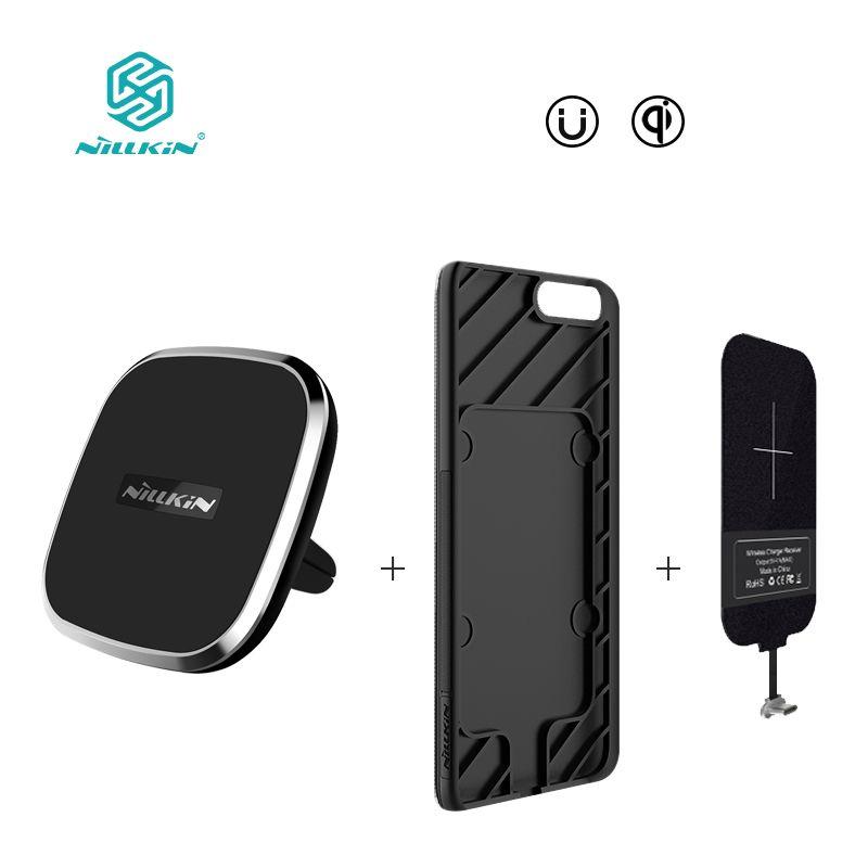 NILLKIN Magnetic drahtlose empfänger fall und qi wireless-ladegerät pad Portable für eins plus 5 oneplus 5 abdeckung Für xiaomi mi6 abdeckung